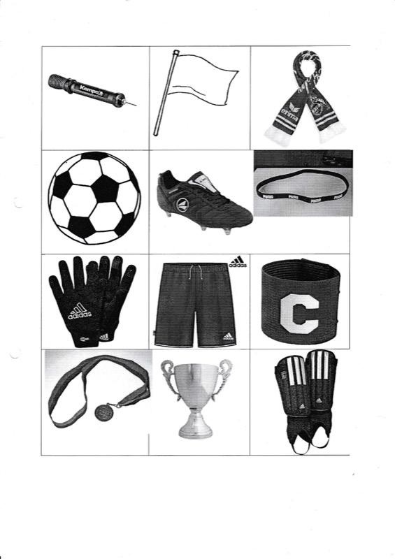 Memory im semantischen Feld Fußball