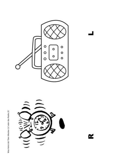 auditive Differenzierung R versus L