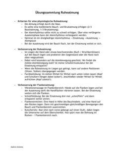 Infoblatt zur Ruheatmung