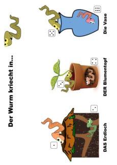 Dativ vs. Akkusativ mit dem Wurm