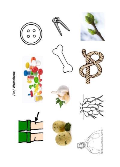 Bilder Konsonantenverbindung kn