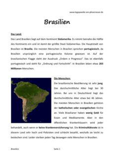 Brasilien – eine Textreise für Aphasiker
