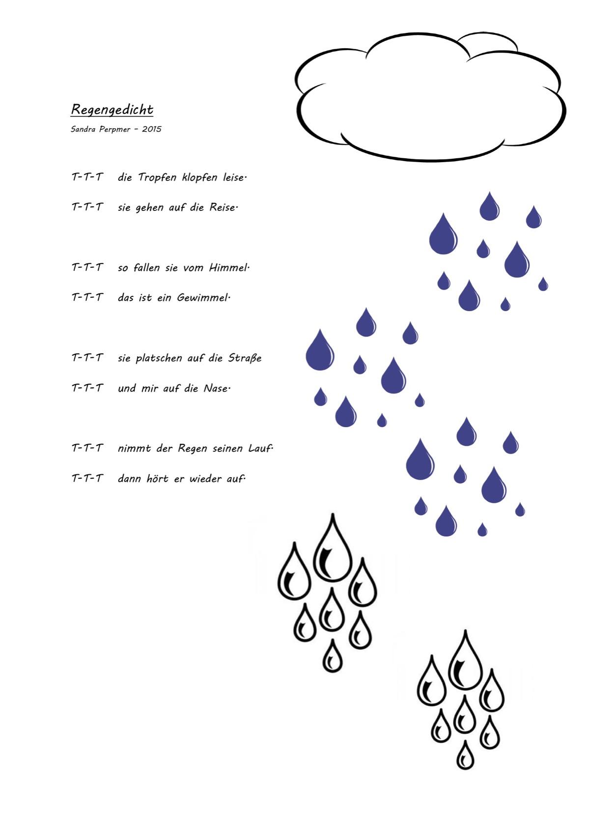 Das gedicht regen