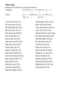 Sätze zur Akzentmethode