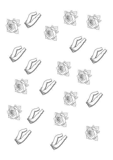 Minimalpaar Hose-Rose