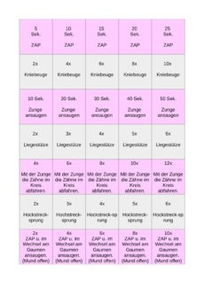 MFT Übungen in Verbindung mit Bewegung