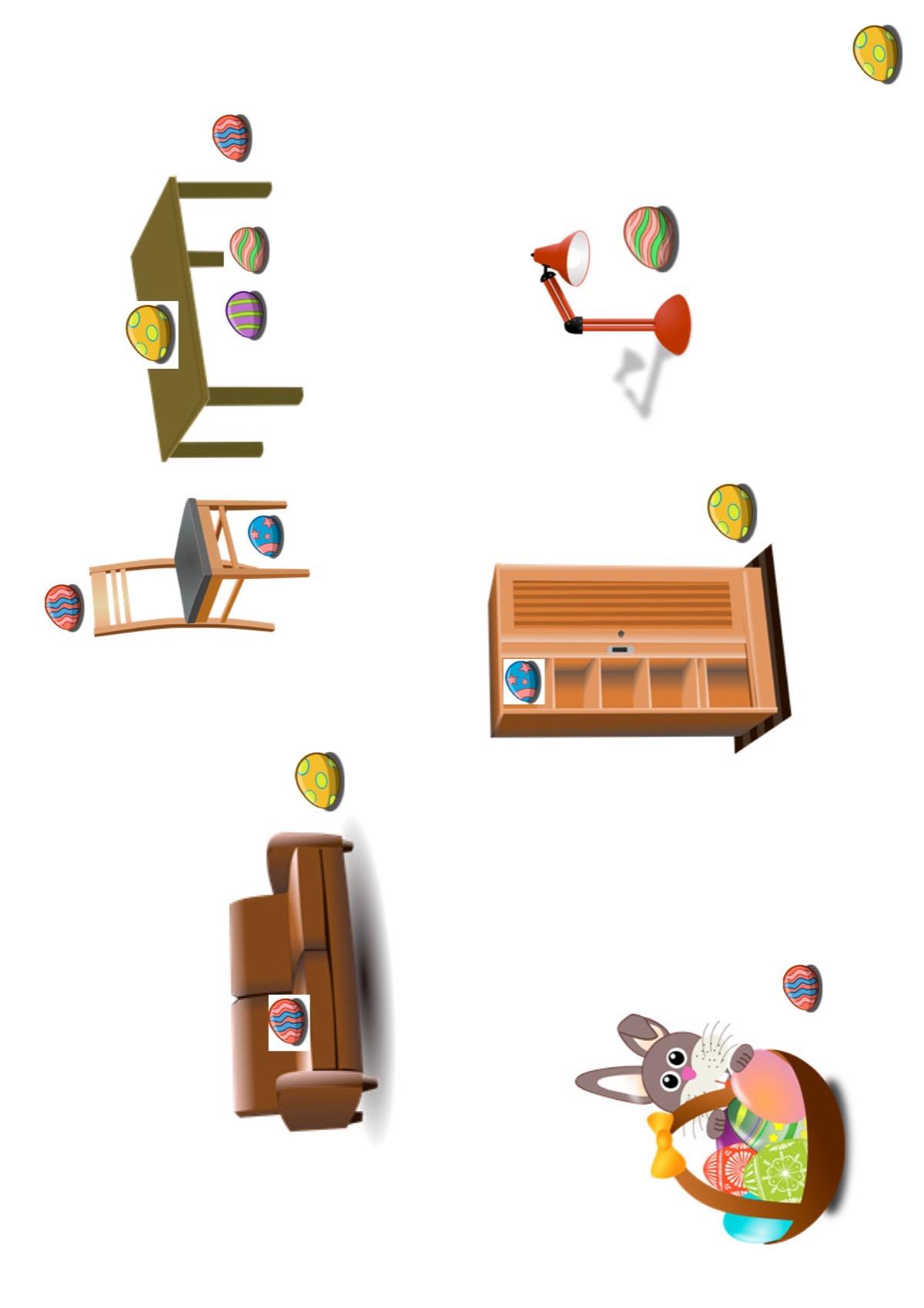 Ostereiersuche - Kindersprache - madoo.net
