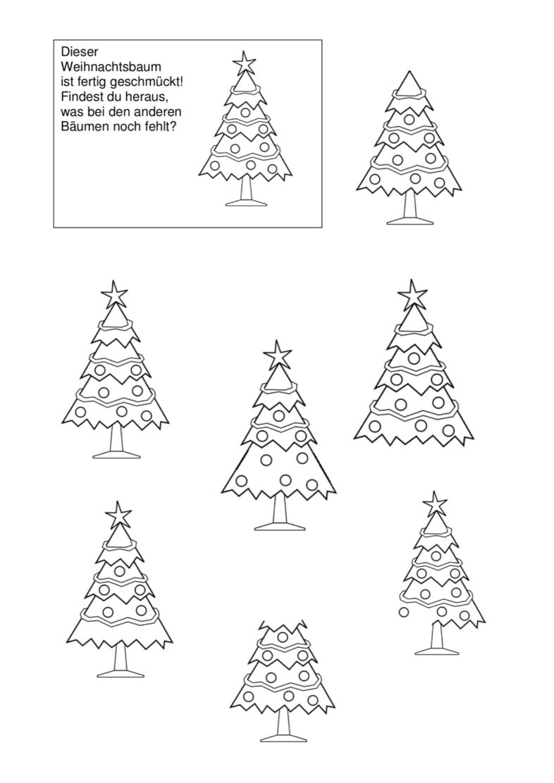 Was fehlt den Weihnachtsbäumen?