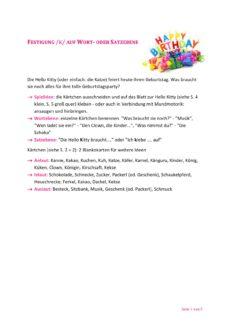 Hello Kitty Spiel bei Kappazismus