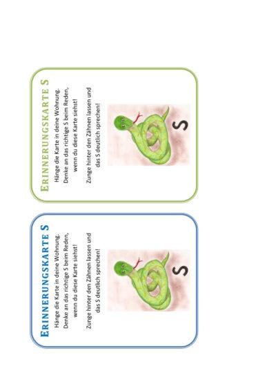 Erinnerungskarten Sigmatismus
