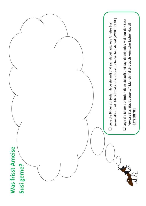 Lautfestigung Sigmatismus mit Susi der Ameise