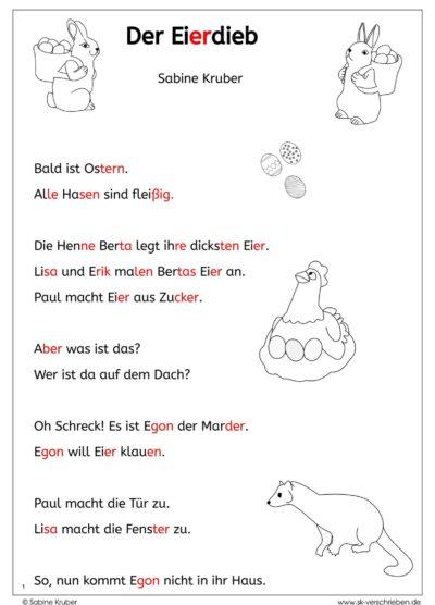 Lesetext zu Ostern: Der Eierdieb