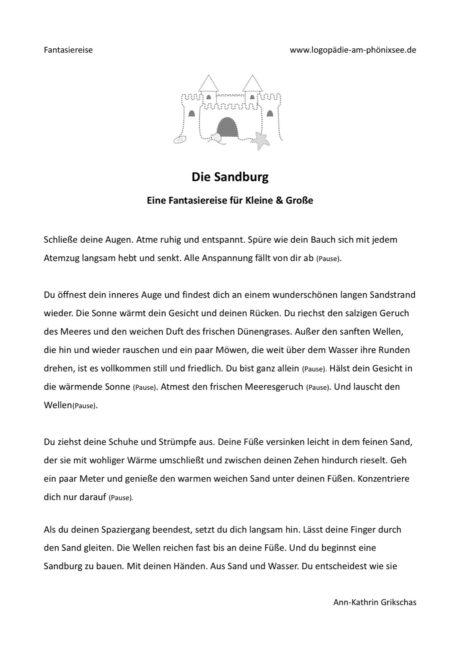 Fantasiereise – Die Sandburg