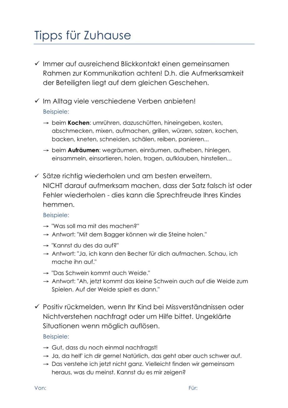 Infoblatt Sprachförderung Verben