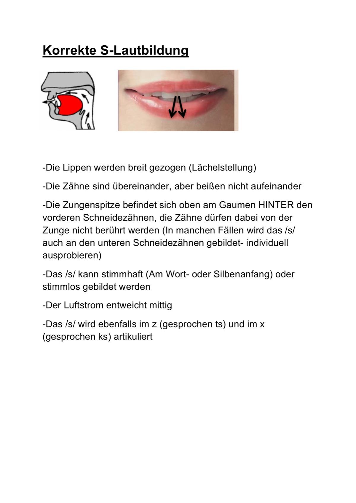 Sigmatismus bei Erwachsenen - Dysarthrophonie - madoo.net