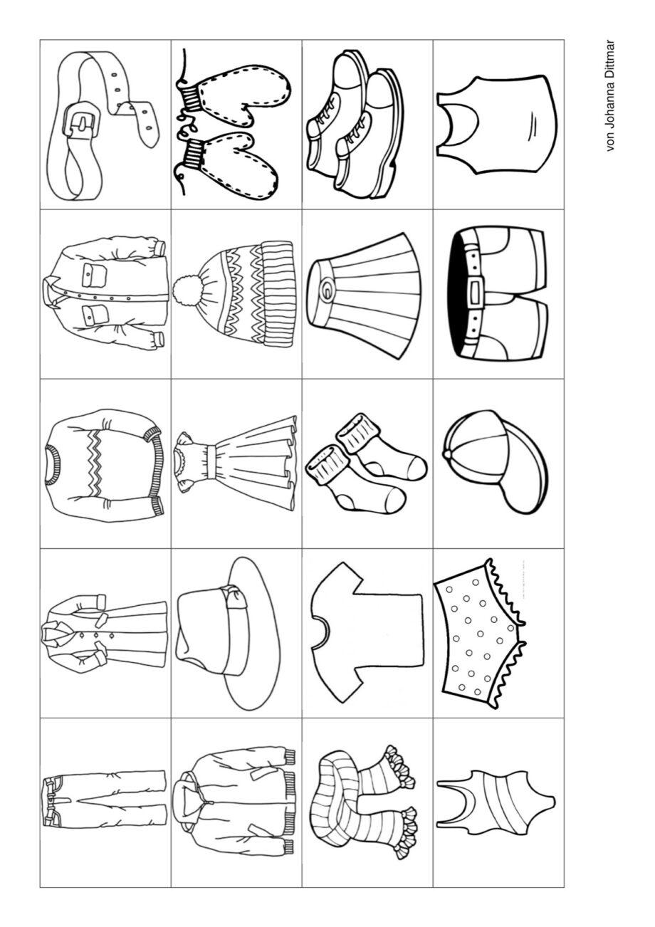 Ansaugspiel Kleidungsstücke