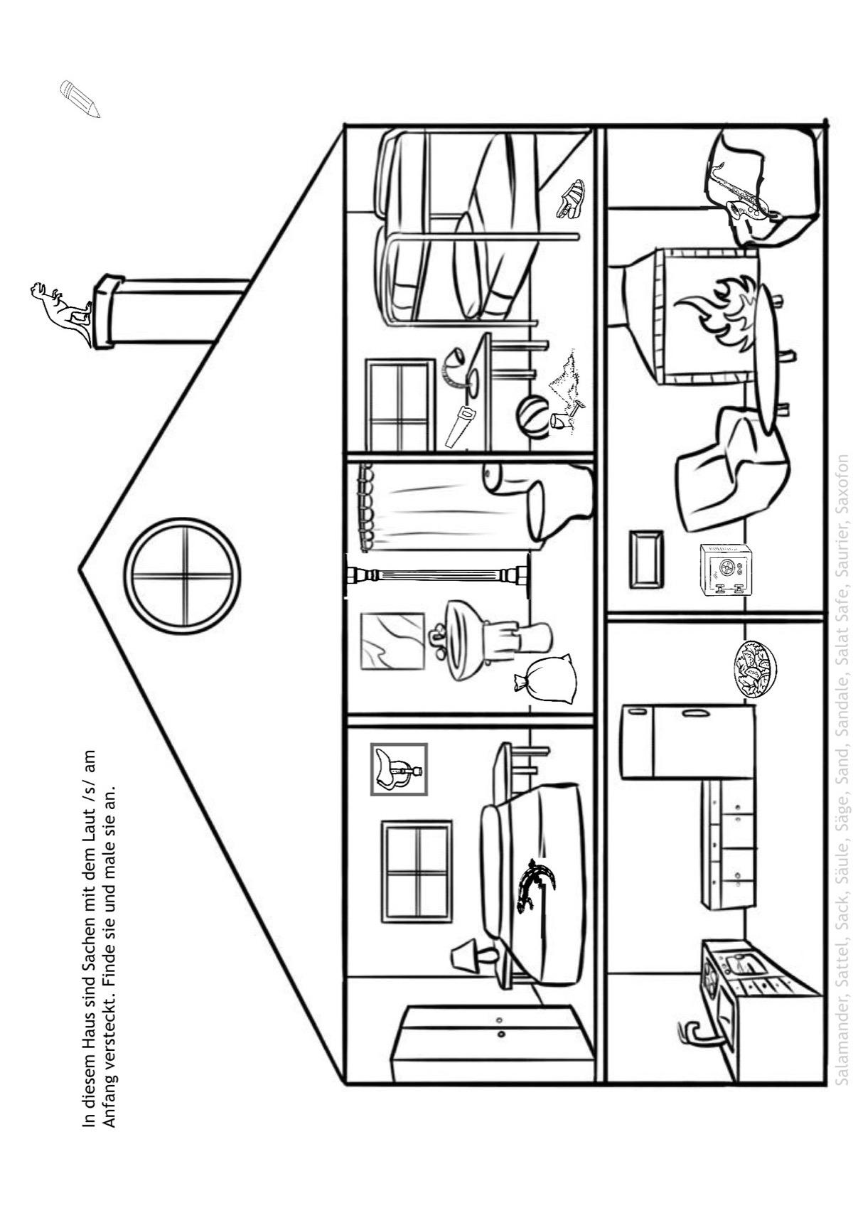 Sammlungen mit Suchbild Haus - Dyslalie - madoo.net