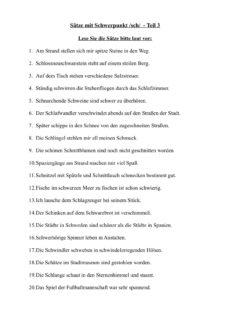 Sätze mit /sch/ Teil 3