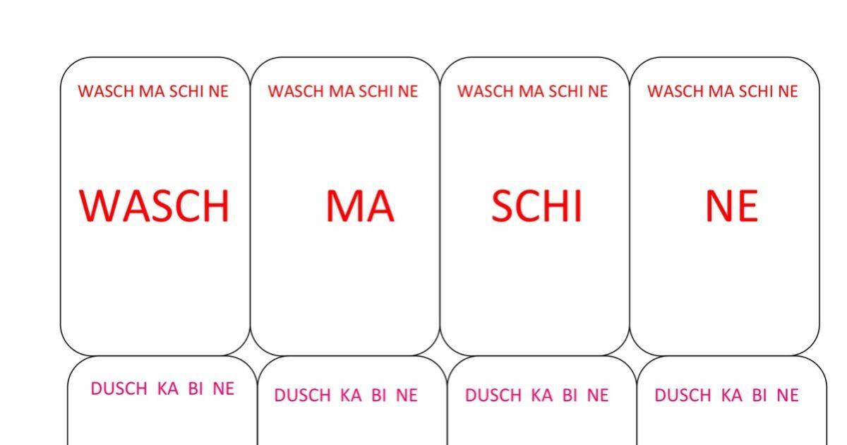 Uhrzeiger zum ausdrucken  Silben Quartett mit 4 silbigen Wörtern - Aphasie - madoo.net
