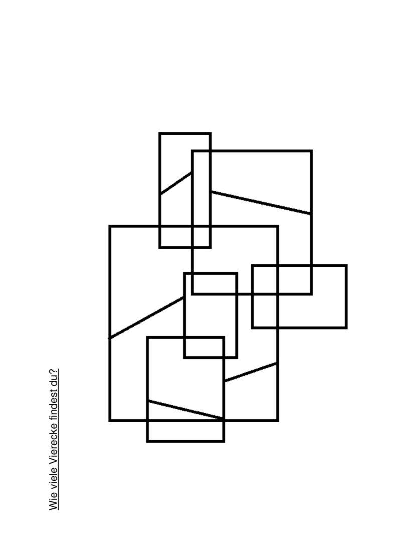 Wie viele Vierecke findest du?