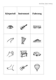 Aphasiematerial zur Wortfindung – Teil 1