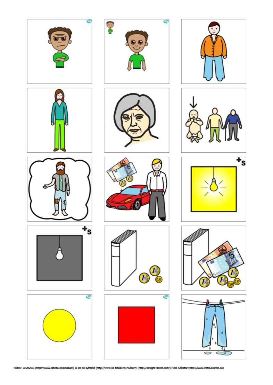 Bildkarten: Adjektive/Gegenteile