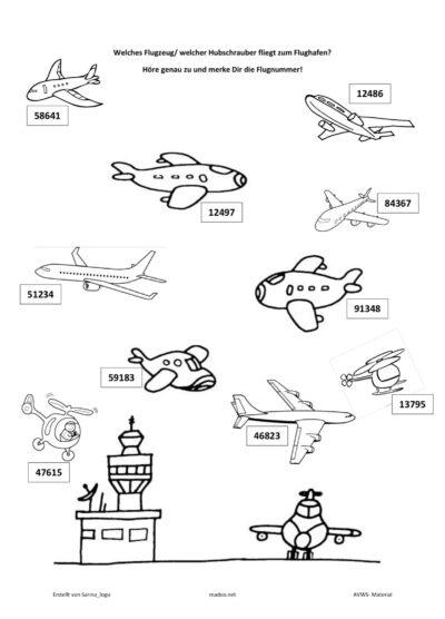 Merkfähigkeit Flugzeugspiel