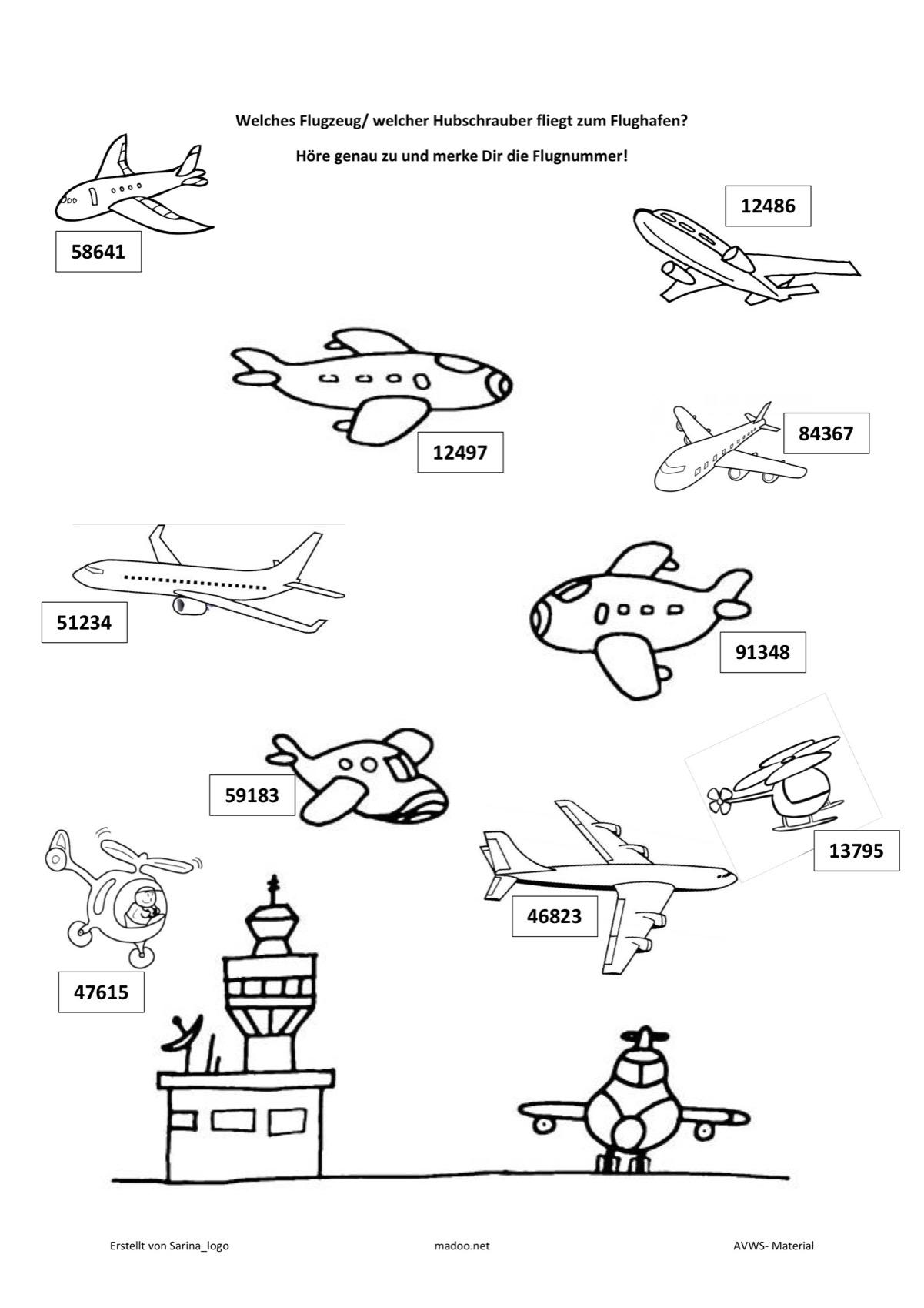 Merkfähigkeit Flugzeugspiel - SES - madoo.net