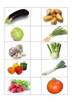 Bildkarten Gemüse (2)