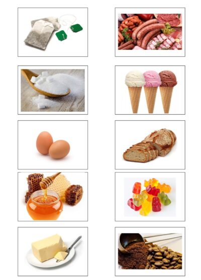 Bildkarten Lebensmittel