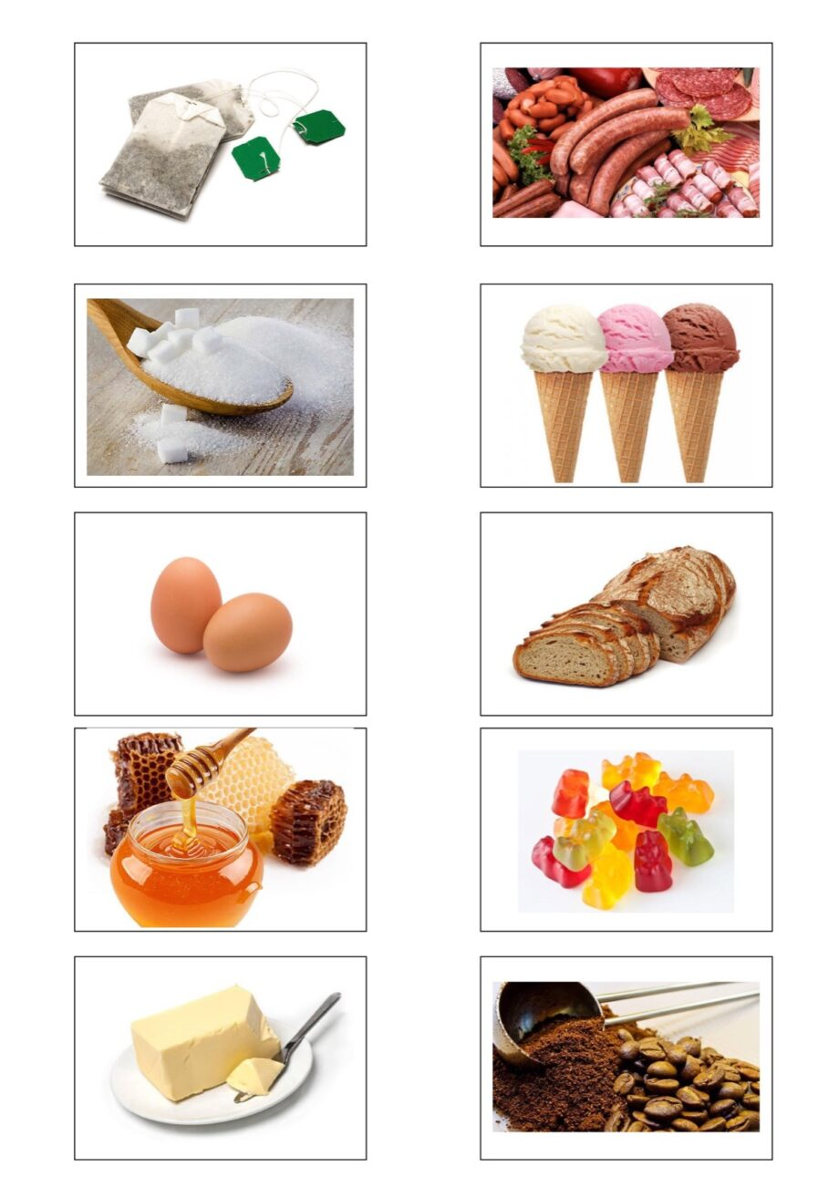 Bildkarten Lebensmittel Aphasie Madoo Net