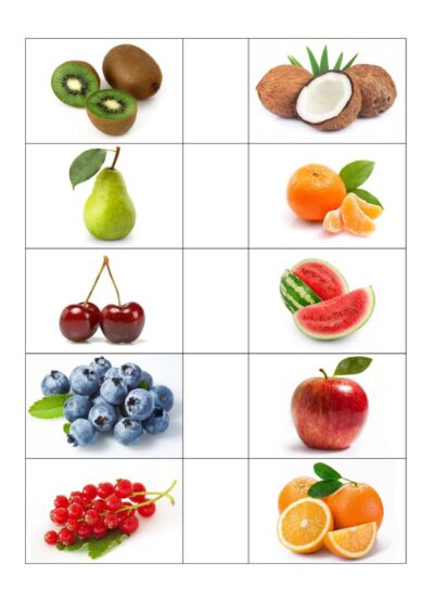 Bildkarten Obst
