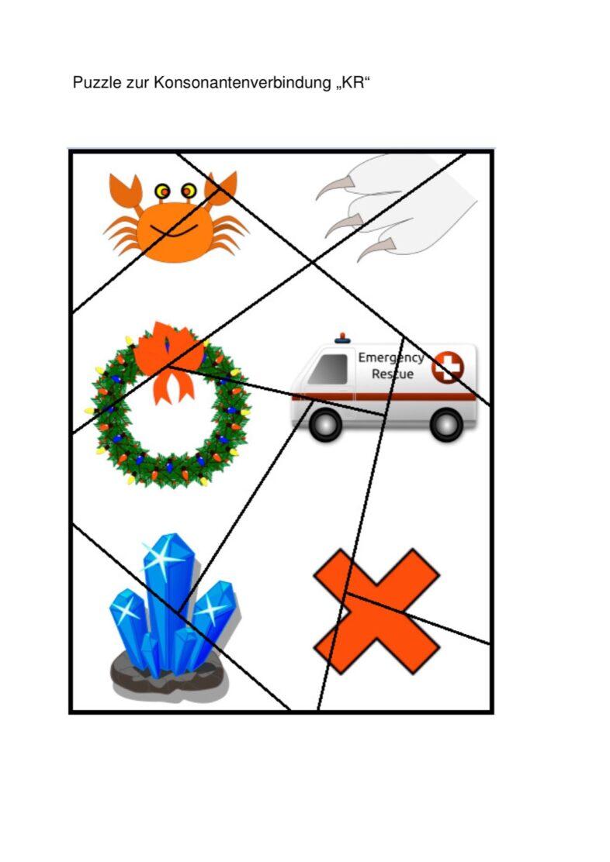 Puzzle zur Konsonantenverbindung KR