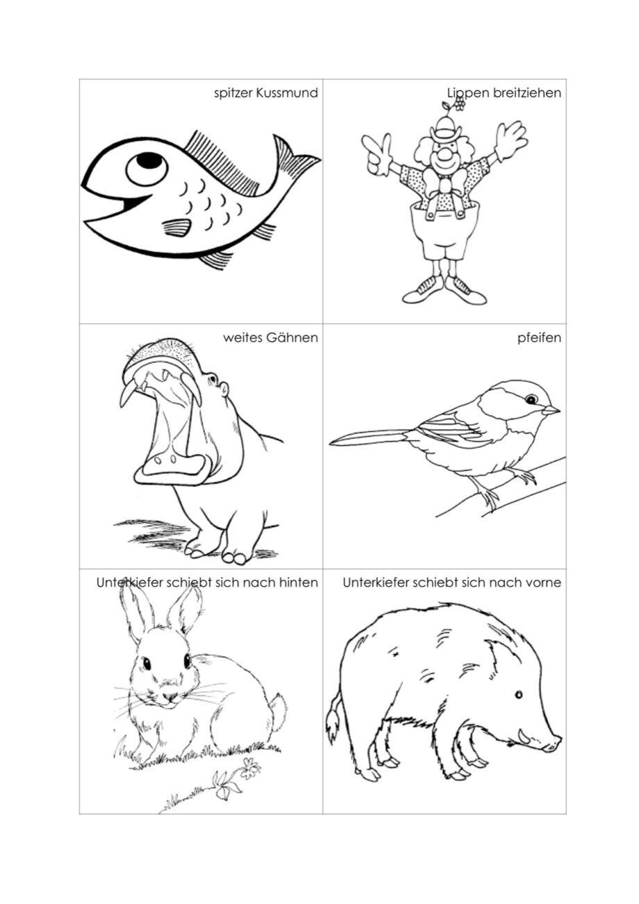 Vorstellungsbilder für Kinder im Bereich Stimme