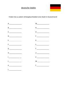Wortfindung: deutsche Städte