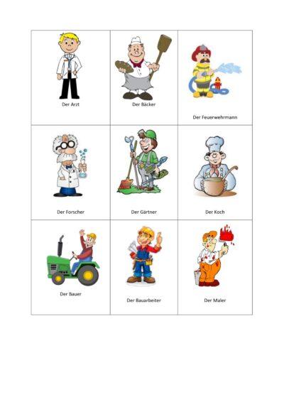 Berufe – Bildkarten