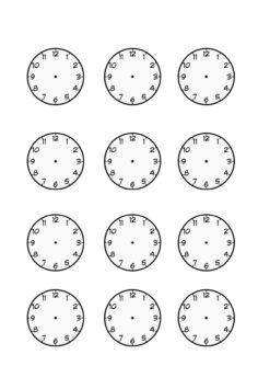 Uhren als Blanko-Vorlage