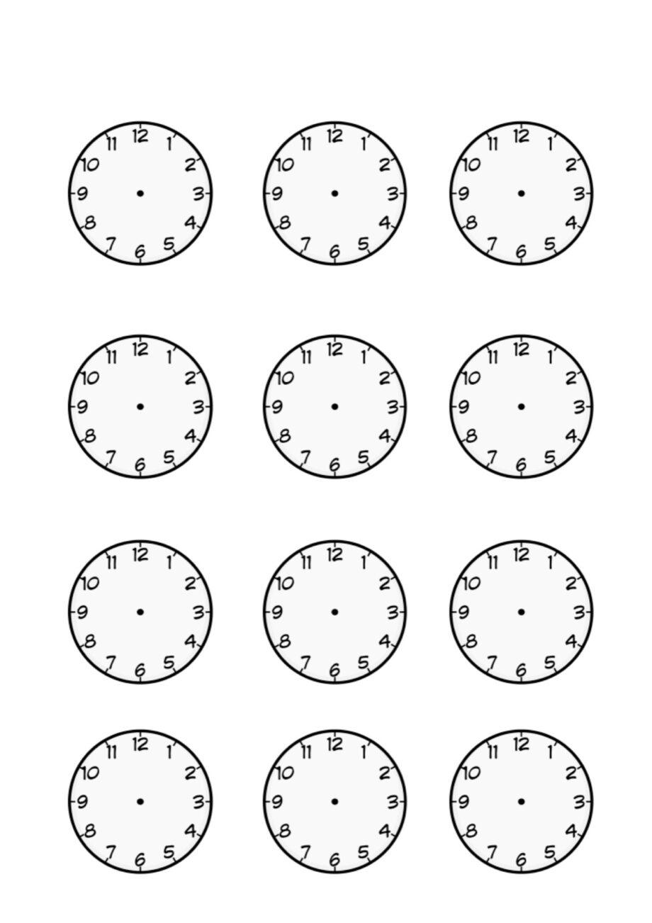 Uhren als Blanko-Vorlage - Diverses - madoo.net