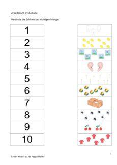 Zahlen und Mengen