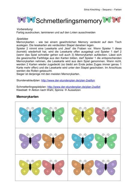 Schmetterlingsmemory (Auditiven Merkfähigkeit)
