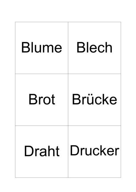 Wörter mit Konsonantenverbindungen