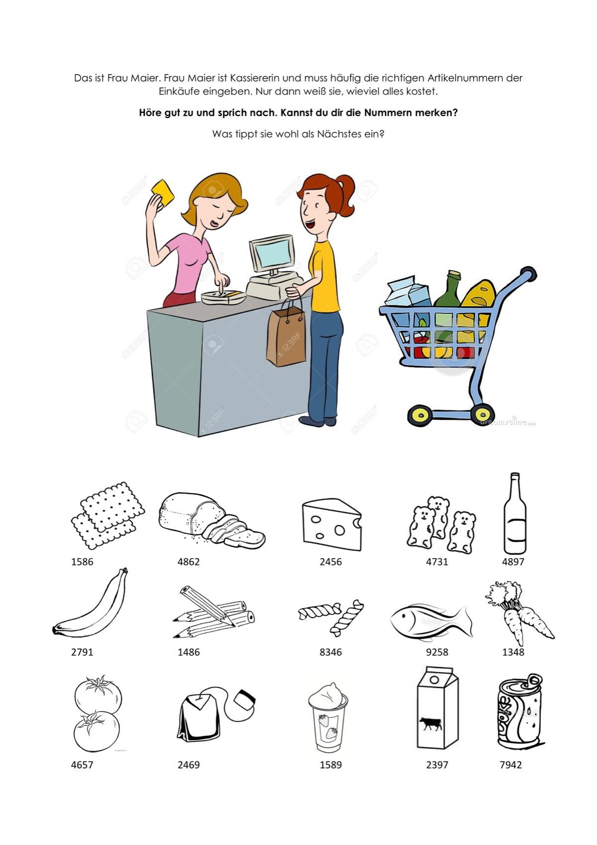 Sammlungen mit AVWS Einkaufen - Kindersprache - madoo.net