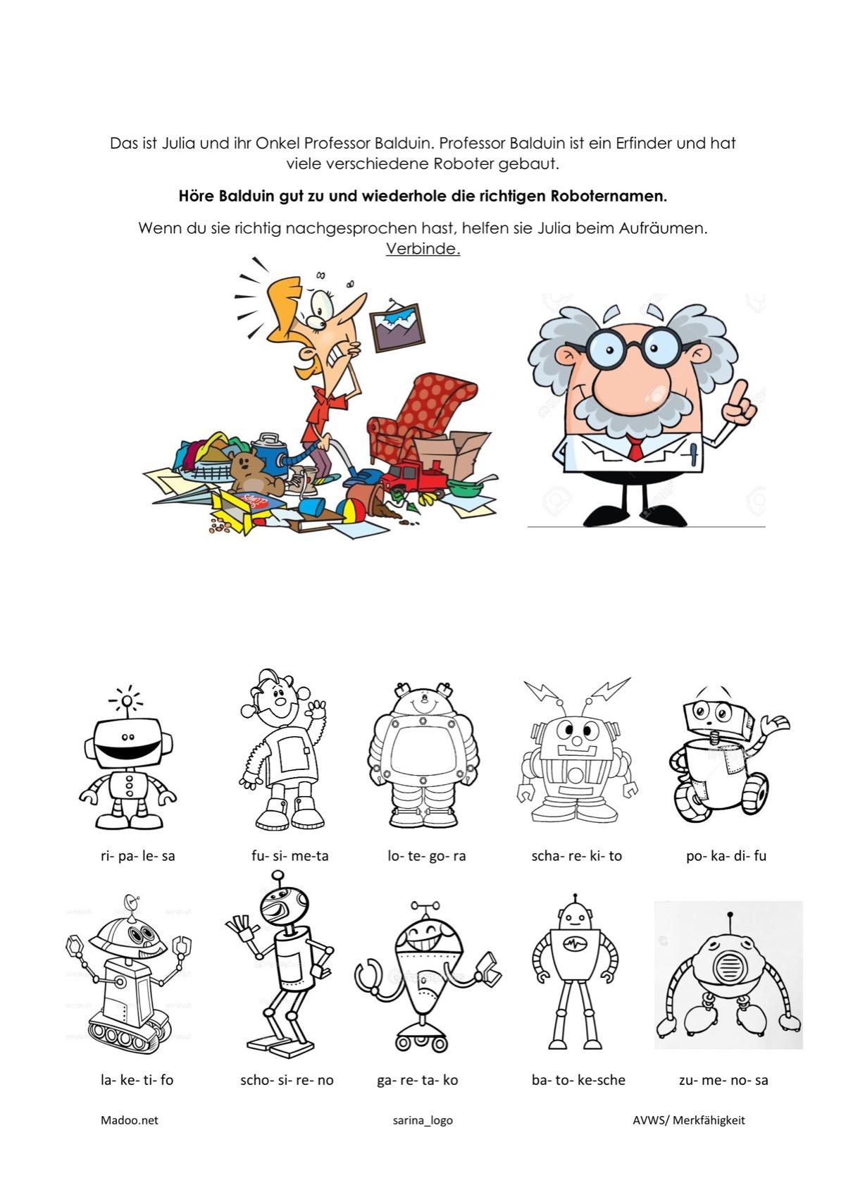 AVWS Roboter - Kindersprache - madoo.net