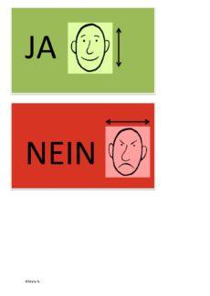 Wort/Symbolkarten JA und NEIN