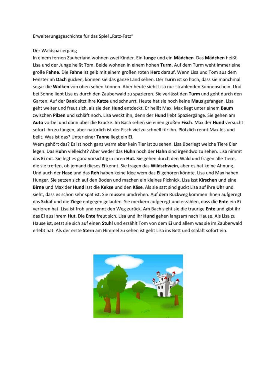 Erweiterungsgeschichte für das Spiel Ratz Fatz