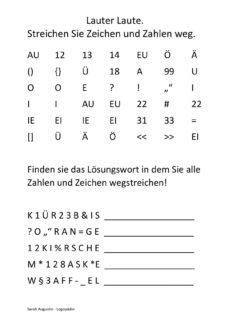 Lauter Zeichen und Buchstaben