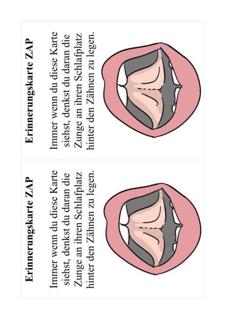 Erinnerungskarte Zungenruhelage