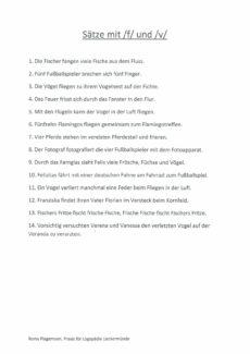 Sätze mit vielen [f] und [v]