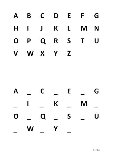 ABC ergänzen