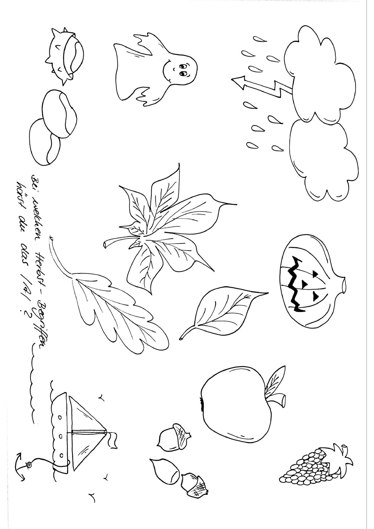 Herbst Ausmalbilder Igel : Therapiematerial Zum Thema Herbst Therapiematerial Logop Die